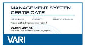 Certificación ISO 9001 – Gabinetes plásticos